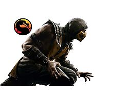 Mortal Kombat X - Scorpion Attack Photographic Print