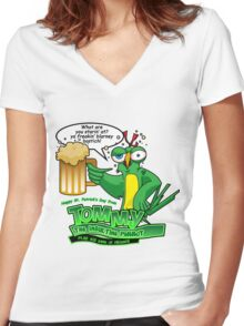 Tommy the Inulsting Parrot - Blarney Women's Fitted V-Neck T-Shirt
