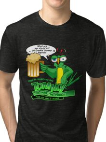 Tommy the Inulsting Parrot - Blarney Tri-blend T-Shirt