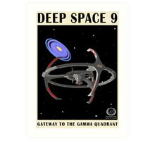 Star Trek - Travel Poster (Deep Space 9) Art Print