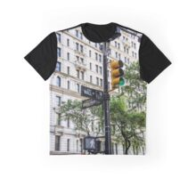 New York Traffic Lights & Signs at Wall Street / Broadway Junction Graphic T-Shirt