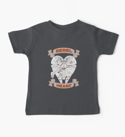Rebel Heart - orange Baby Tee