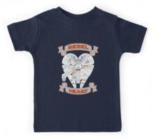 Rebel Heart - orange Kids Tee