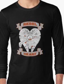 Rebel Heart - orange Long Sleeve T-Shirt