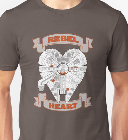Rebel Heart - orange Unisex T-Shirt