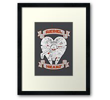 Rebel Heart - orange Framed Print