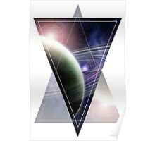 Space Triangle Geometry Poster