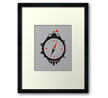 ADVENTURE COMPASS Framed Print