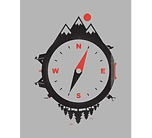 ADVENTURE COMPASS Photographic Print
