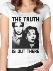 X-Files The Truth is out there Shirt Women's Fitted Scoop T-Shirt