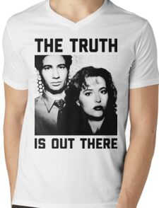 X-Files The Truth is out there Shirt Mens V-Neck T-Shirt