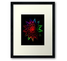 Colorful Geometric Abstract Vector Star Framed Print