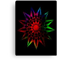 Colorful Geometric Abstract Vector Star Canvas Print