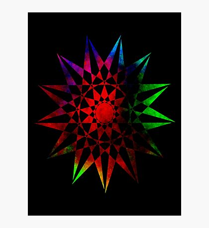 Colorful Geometric Abstract Vector Star Photographic Print