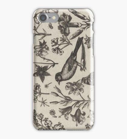 VINTAGE BIOLOGY PRINT iPhone Case/Skin