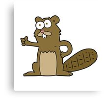 cartoon beaver Canvas Print