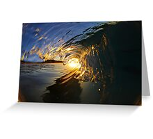 Glassy Wave Greeting Card