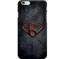 """The Letter K in the Style of """"Man of Steel"""" iPhone Case/Skin"""