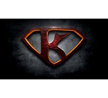 "The Letter K in the Style of ""Man of Steel"" Photographic Print"