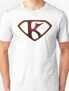 "The Letter K in the Style of ""Man of Steel"" Unisex T-Shirt"
