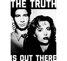 X-Files The Truth is out there Black Shirt Photographic Print