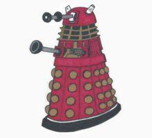 Red Dalek by IndieRad
