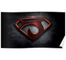 "The Letter J in the Style of ""Man of Steel"" Poster"