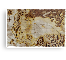 Old folded map of Alagaësia Metal Print