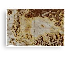 Old folded map of Alagaësia Canvas Print