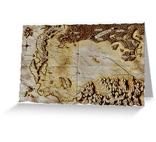Old folded map of Alagaësia Greeting Card