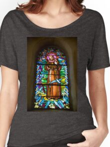 Nazareth, stained glass window Church of St Joseph Women's Relaxed Fit T-Shirt