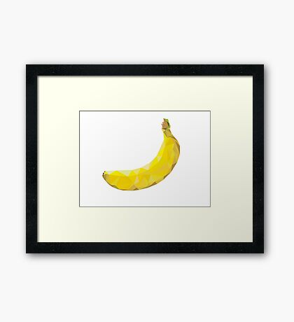 Banana Low-poly  Framed Print