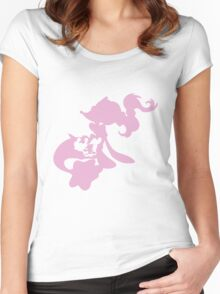 Popplio Evolution Women's Fitted Scoop T-Shirt