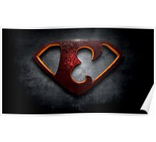 """The Letter E in the Style of """"Man of Steel"""" Poster"""