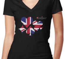 UK Poker 2 Women's Fitted V-Neck T-Shirt