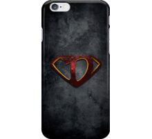 """The Letter D in the Style of """"Man of Steel"""" iPhone Case/Skin"""