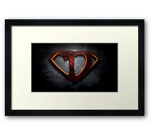 "The Letter D in the Style of ""Man of Steel"" Framed Print"