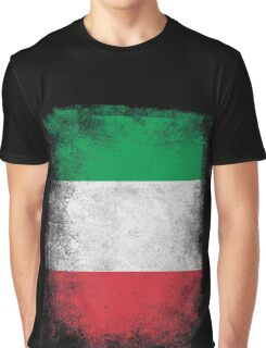 Italy Flag Proud Italian Vintage Distressed  Graphic T-Shirt