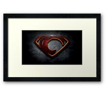 "The Letter C in the Style of ""Man of Steel"" Framed Print"