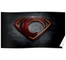 "The Letter C in the Style of ""Man of Steel"" Poster"
