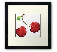 Cherry Low-poly  Framed Print