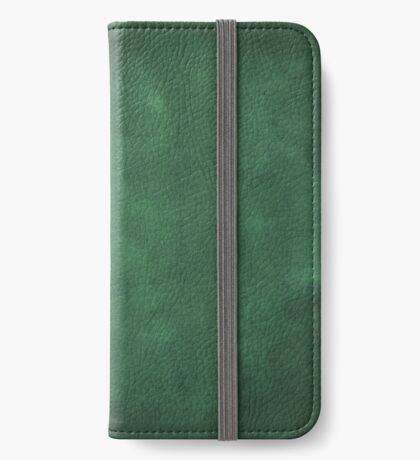 vintage design background - dark green chalkboard texture iPhone Wallet/Case/Skin