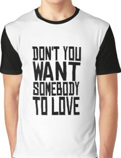 Jefferson Airplane Somebody To Love  Graphic T-Shirt