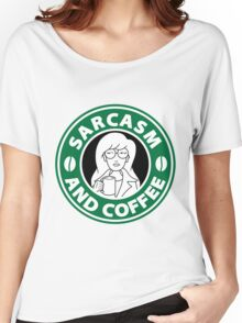 Sarcasm and Coffee Women's Relaxed Fit T-Shirt