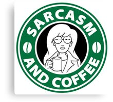 Sarcasm and Coffee Canvas Print
