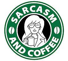 Sarcasm and Coffee Photographic Print