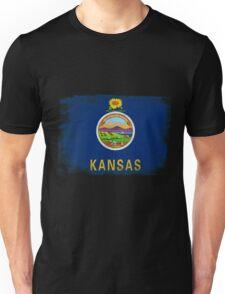 Kansas State Flag Distressed Vintage  Unisex T-Shirt