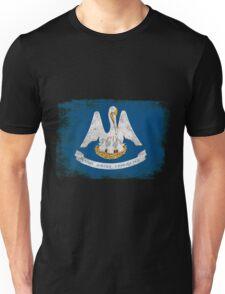 Louisiana State Flag Distressed Vintage Unisex T-Shirt