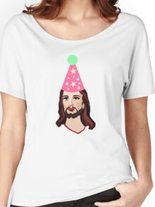 Happy Birthday Jesus Funny Christmas Shirt Women's Relaxed Fit T-Shirt