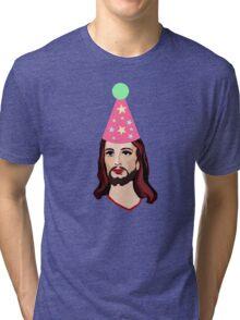Happy Birthday Jesus Funny Christmas Shirt Tri-blend T-Shirt